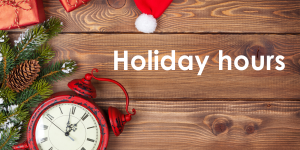 Click for our holiday hours.