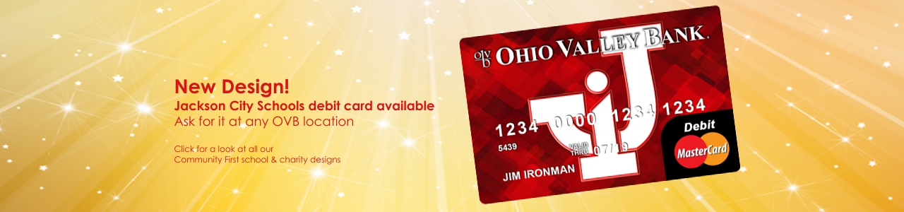 Jackson City Schools themed debit card now available at all OVB offices