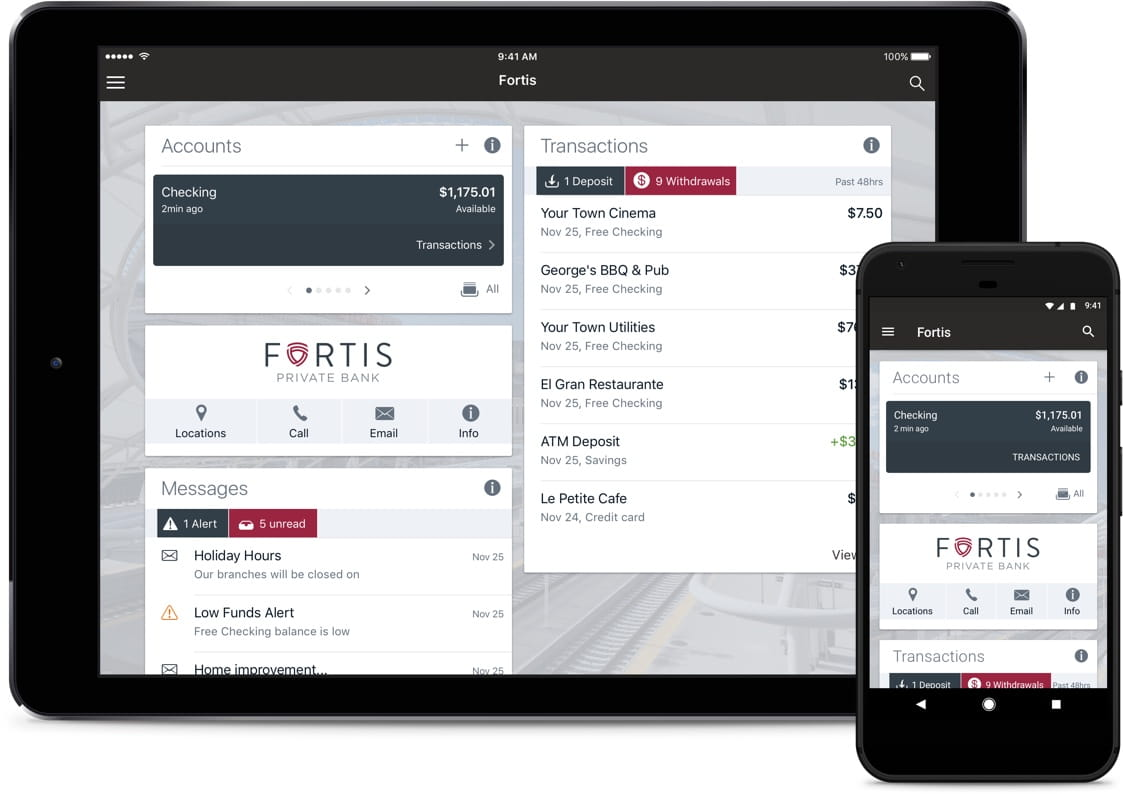 Fortis Private Bank website